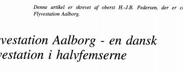 Flyvestation Aalborg - en dansk flyvestation i halvfemserne
