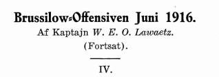 Brussilow-Offensiven Juni 1916 - IV
