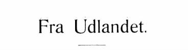 Fra Udlandet 1925 - 1