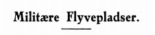 Militære Flyvepladser