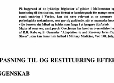 TILPASNING TIL OG RESTITUERING EFTER FANGENSKAB