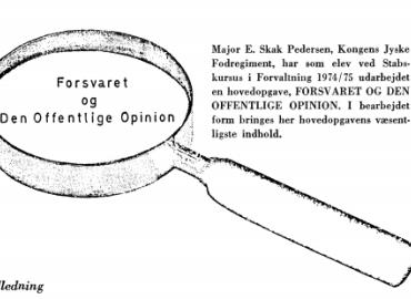 Forsvaret og den offentlige opinion