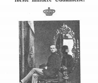 Omkring Frederik VIIl's første militære Uddannelse