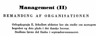 Management (II)