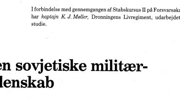 Den sovjetiske militærvidenskab
