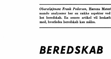 BEREDSKAB